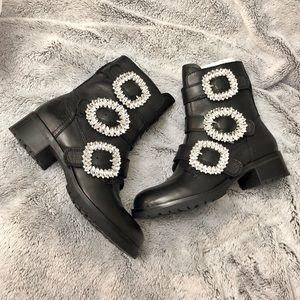 Aldo combat bejeweled boots